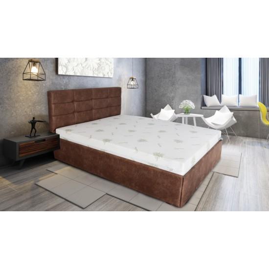 Тапицирана спалня ГАЛАКС 160х200 Кафява