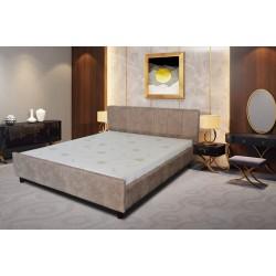Тапицирана спалня с вградена подматрачна рамка 160 х 200, цвят бежов